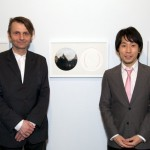 Haraldur and Katsuhiro in front of their Collaborative Works