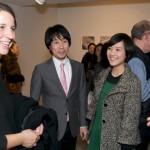 From Left: Artist Bettina Johae, Katushiro Saiki and Emi Saiki